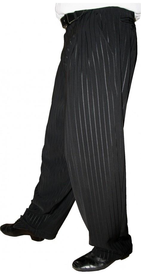 Tanguero ( 4 plis ) frappé rayé Noir