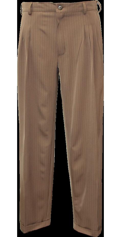 Tanguero rayé Beige-blanc