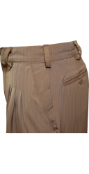 Tanguero ( 4 plis ) Beige rayé blanc
