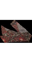 Cravate imprimée gris et rouge