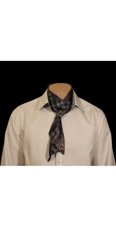 Cravate imprimée gris