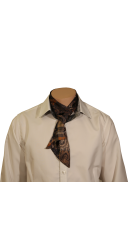 Cravate imprimée camel