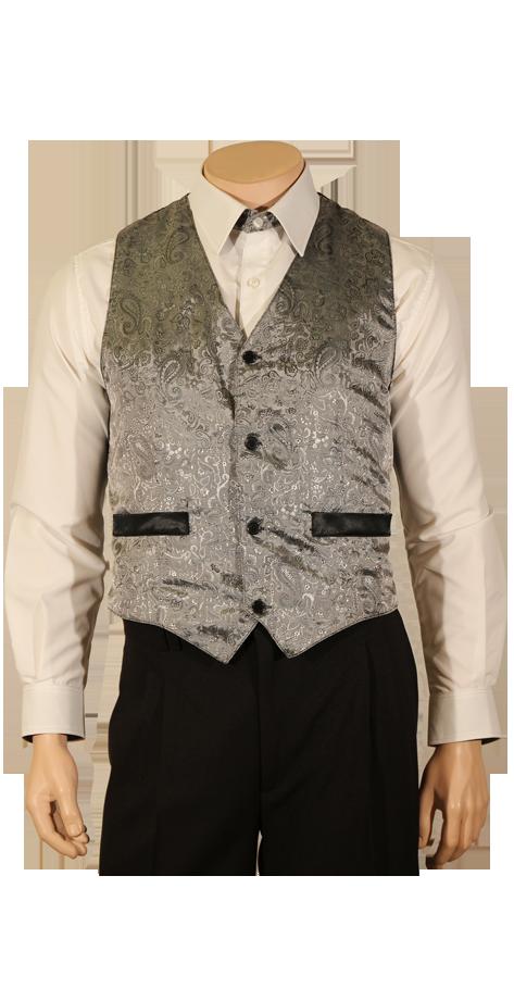 Gilet de costume gris argent