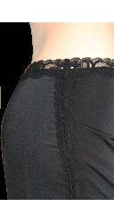 Pantacourt ceinture dentelle